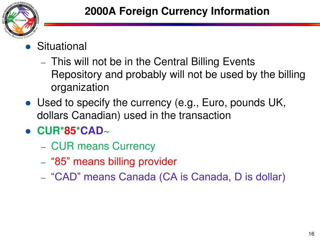 2000A Foreign Currency Information
