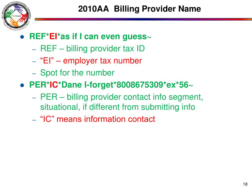 2010AA  Billing Provider Name