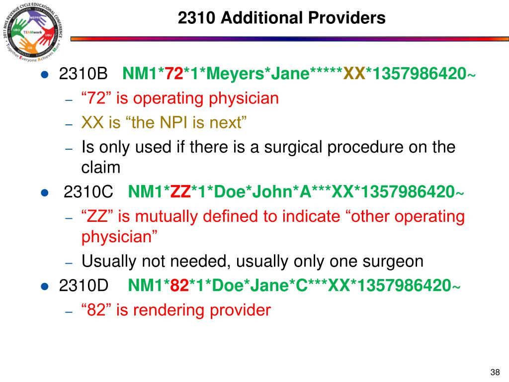 2310 Additional Providers