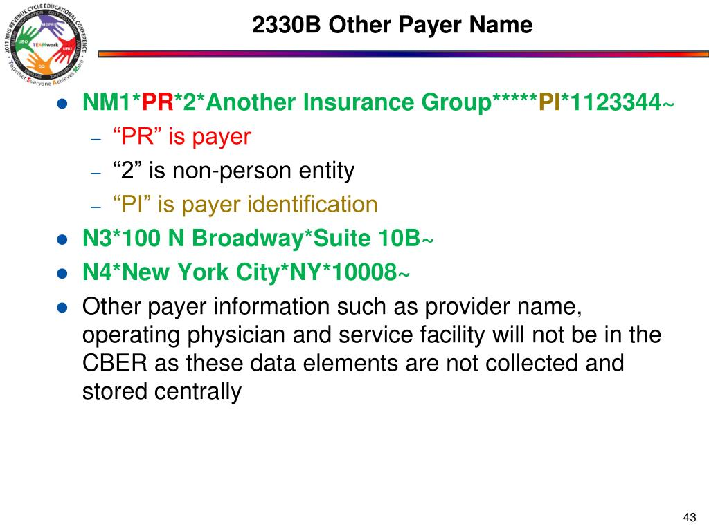 2330B Other Payer Name