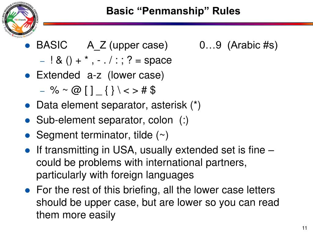 "Basic ""Penmanship"" Rules"
