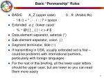 basic penmanship rules