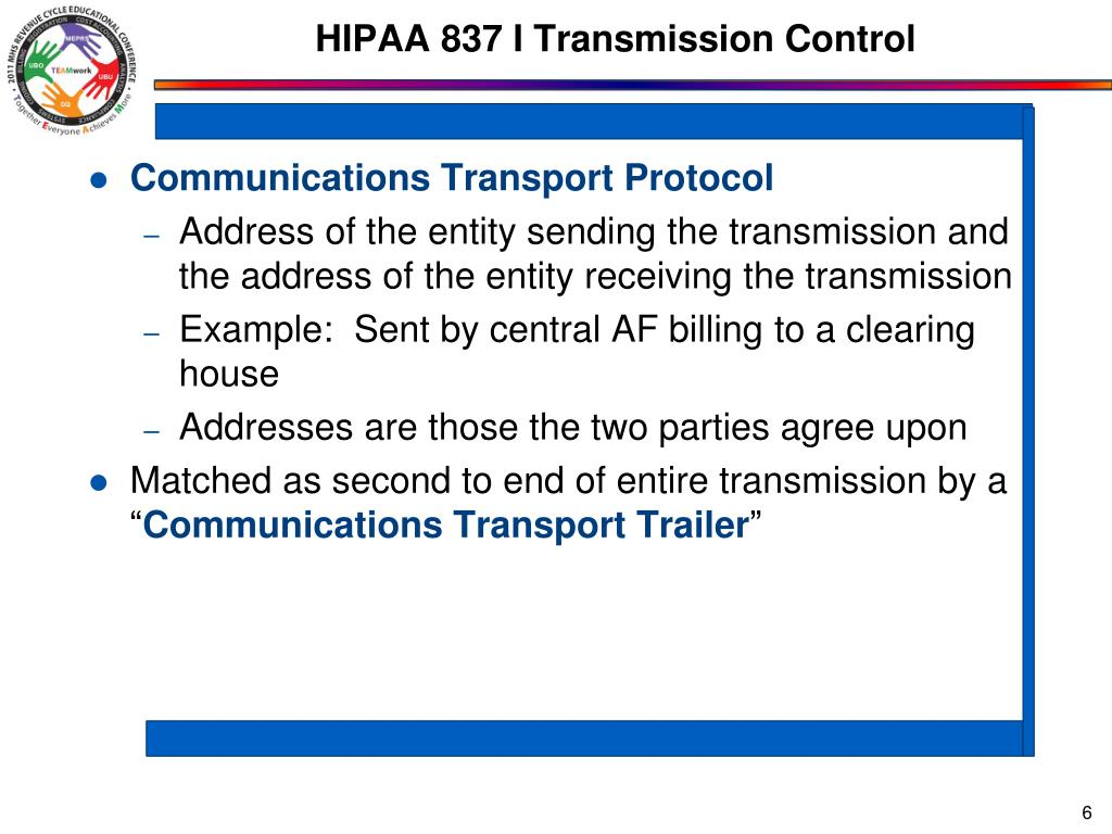 HIPAA 837 I Transmission Control