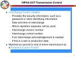 hipaa 837i transmission control