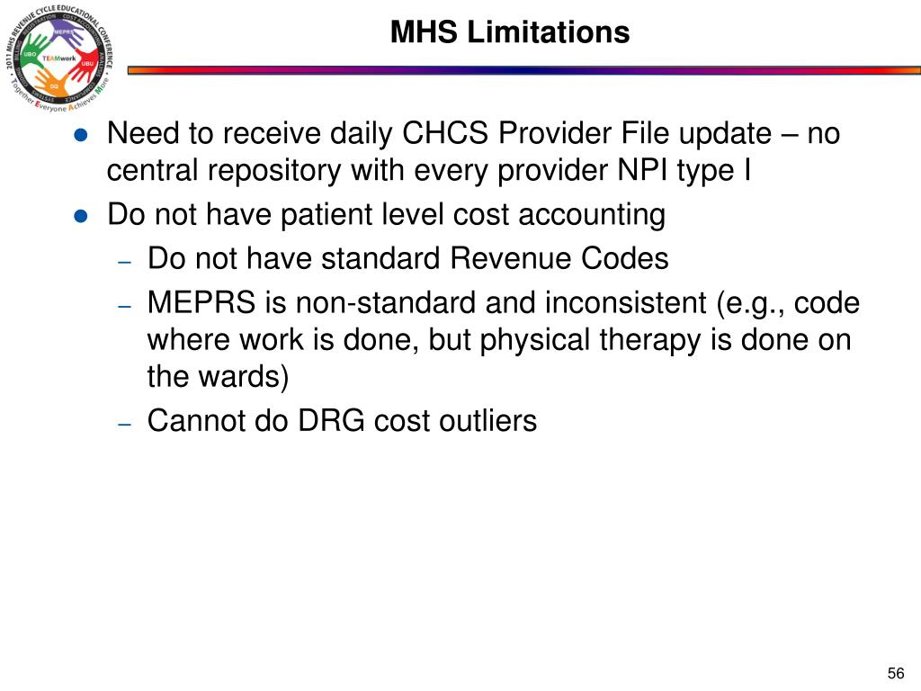 MHS Limitations