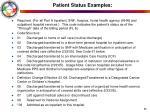 patient status examples