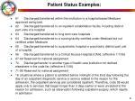 patient status examples61