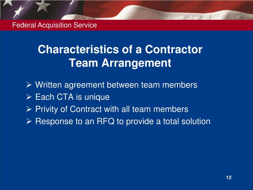 Characteristics of a Contractor
