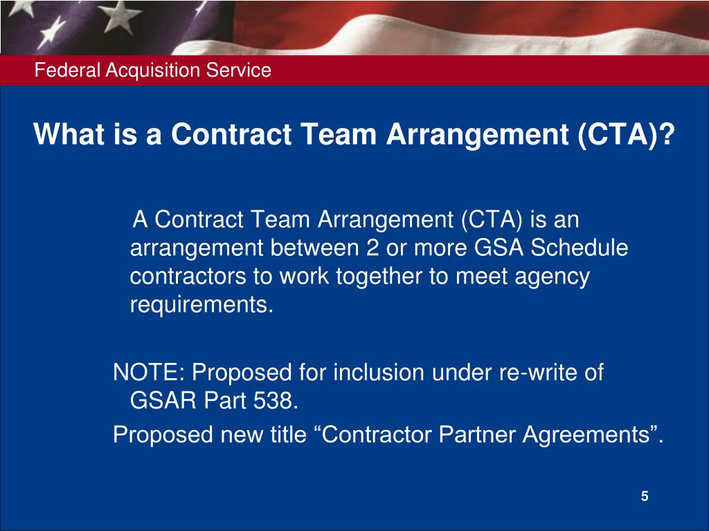 What is a Contract Team Arrangement (CTA)?