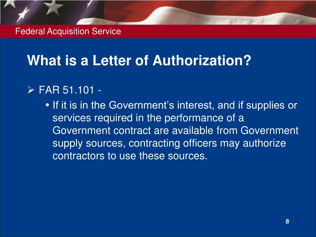 What is a Letter of Authorization?