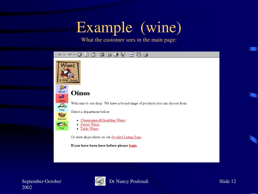 Example  (wine)