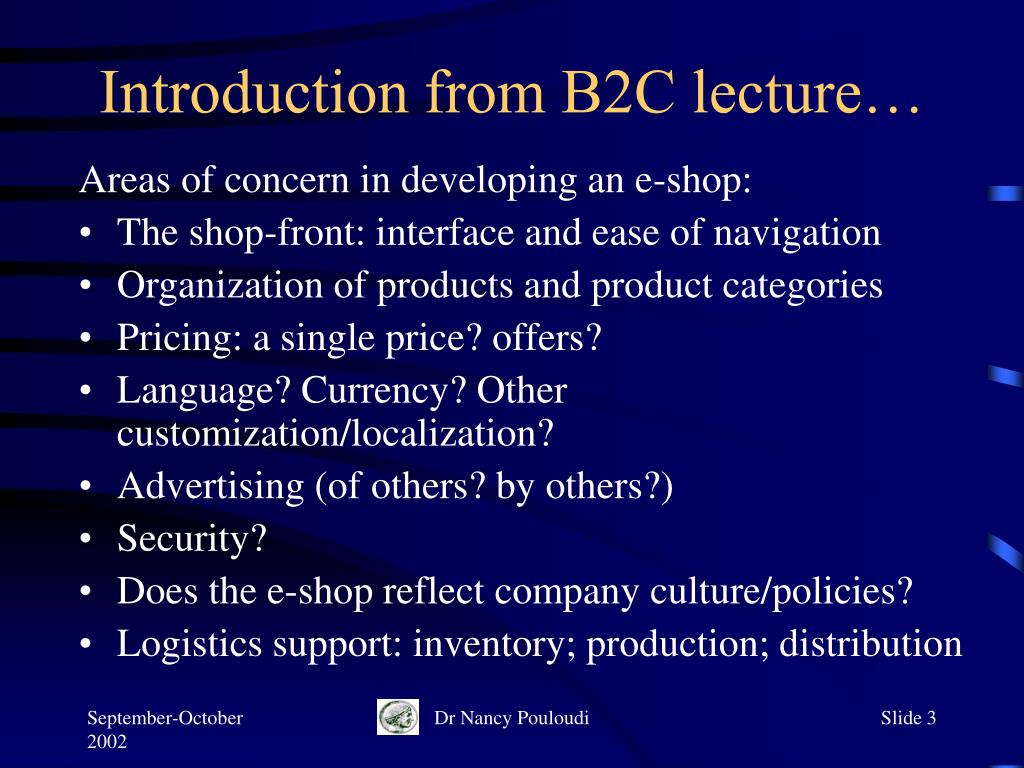 Introduction from B2C lecture…