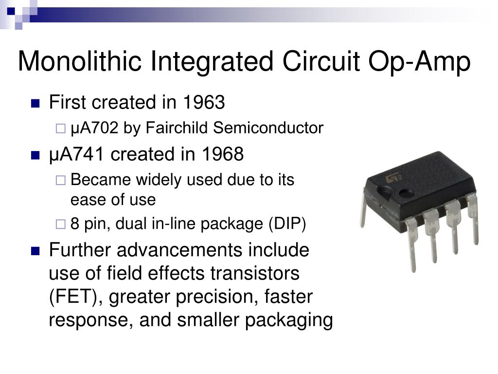 Monolithic Integrated Circuit Op-Amp