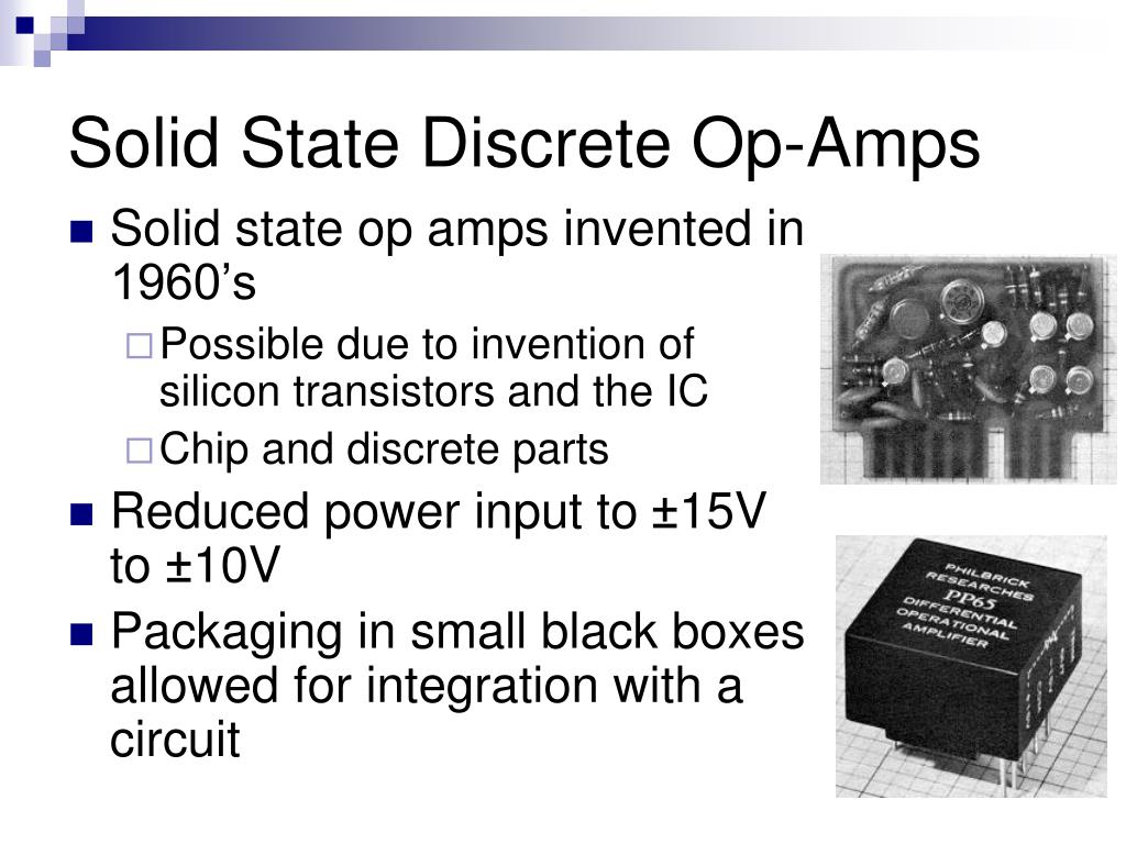 Solid State Discrete Op-Amps