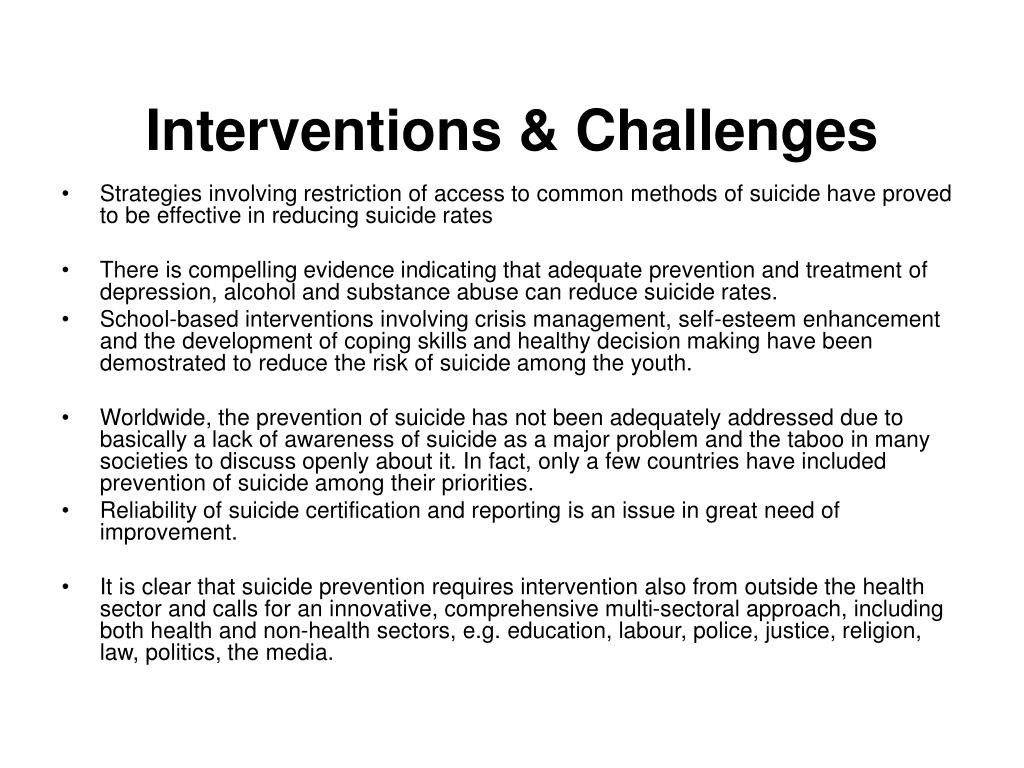 Interventions & Challenges