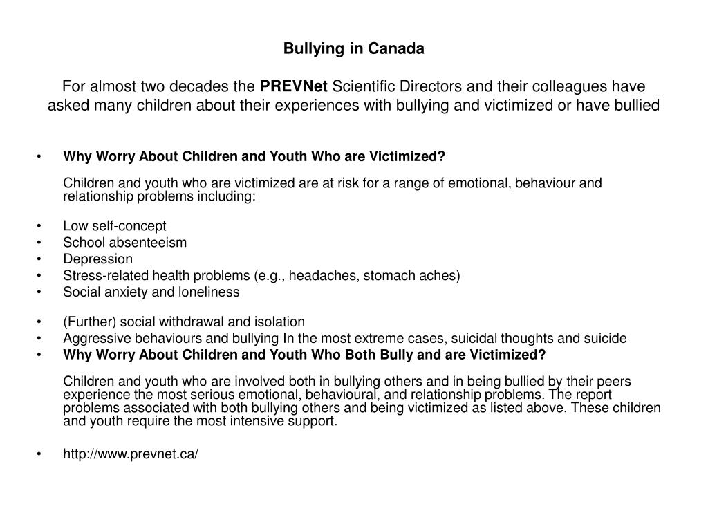 Bullying in Canada