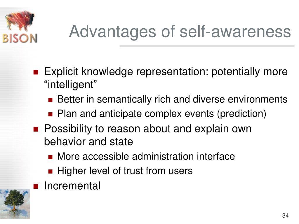 Advantages of self-awareness