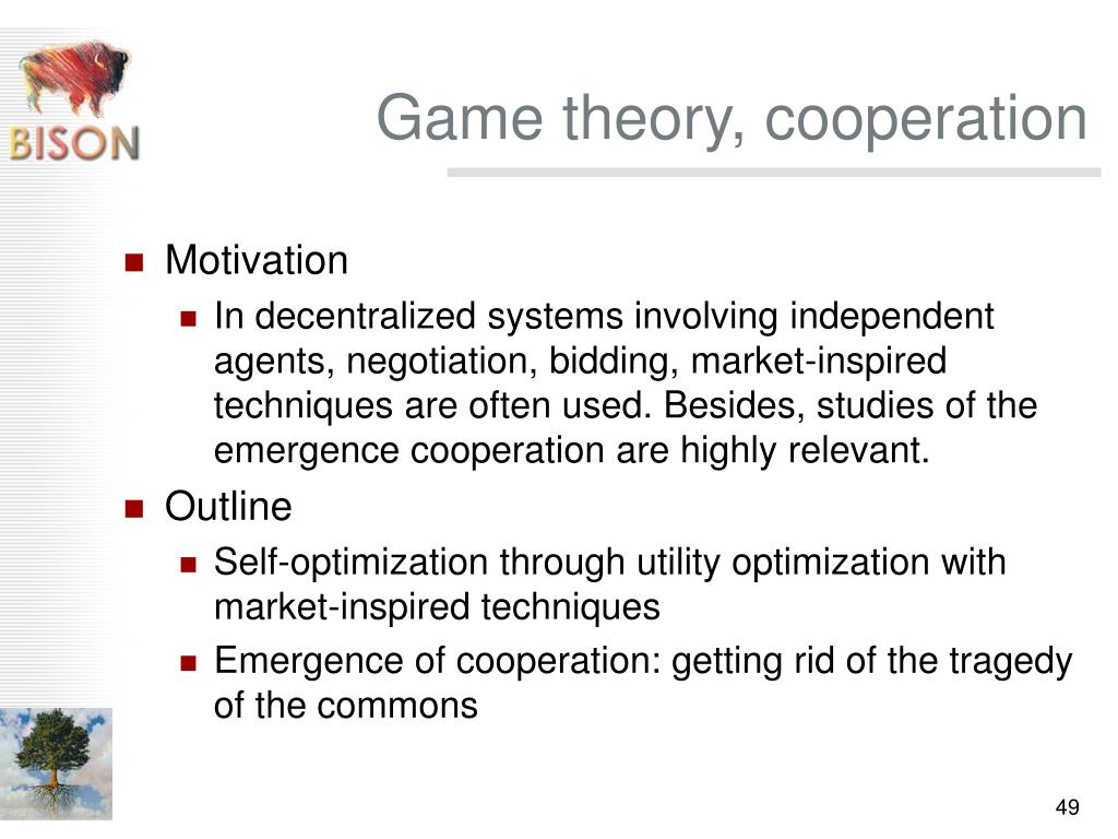 Game theory, cooperation