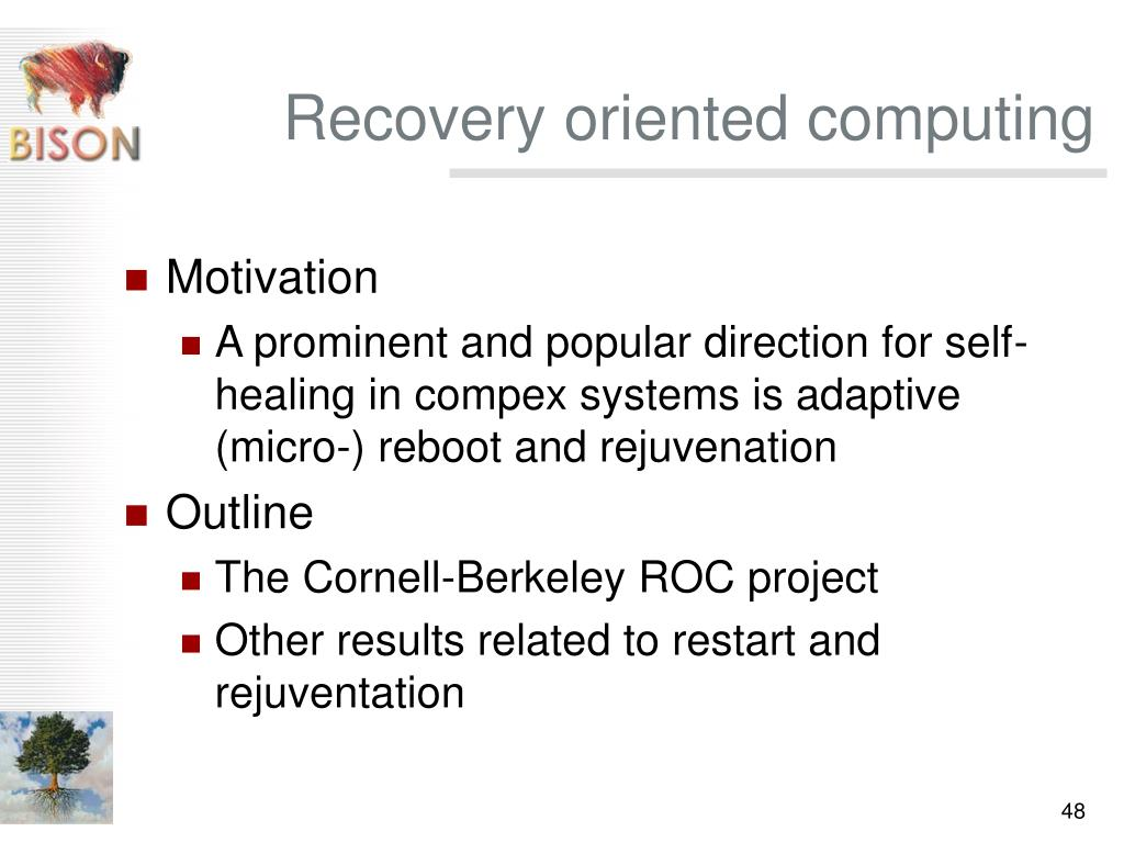 Recovery oriented computing