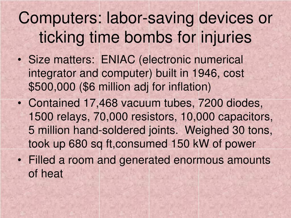 Computers: labor-saving devices or ticking time bombs for injuries
