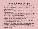 tech age health tips