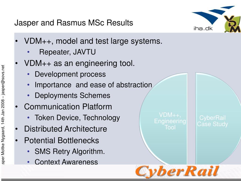 Jasper and Rasmus MSc Results