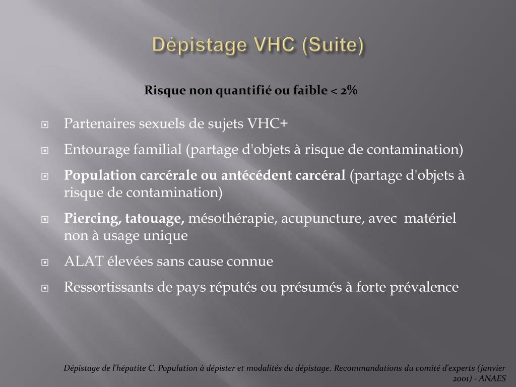 Dépistage VHC (Suite)