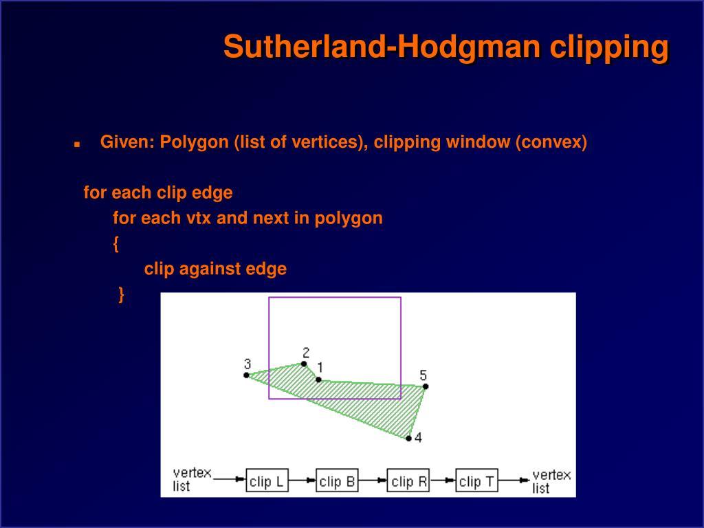Sutherland-Hodgman clipping