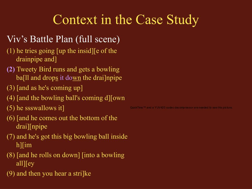 Context in the Case Study