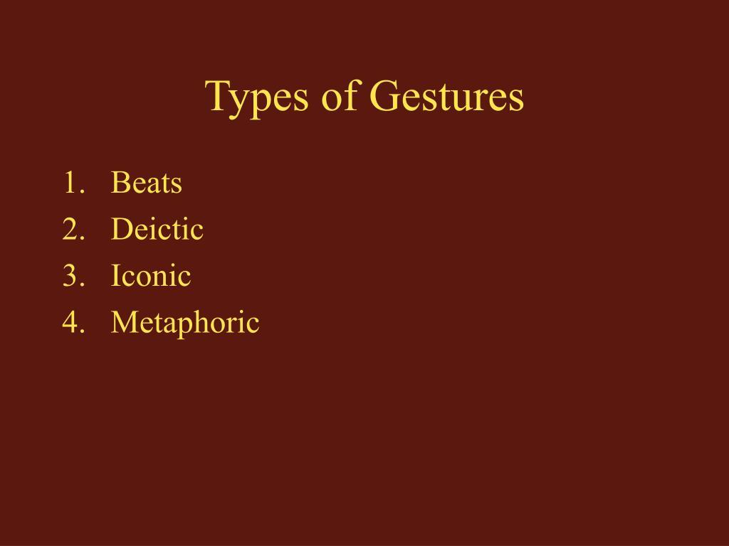 Types of Gestures