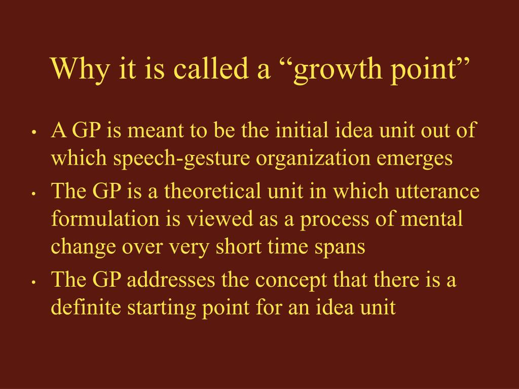 """Why it is called a """"growth point"""""""