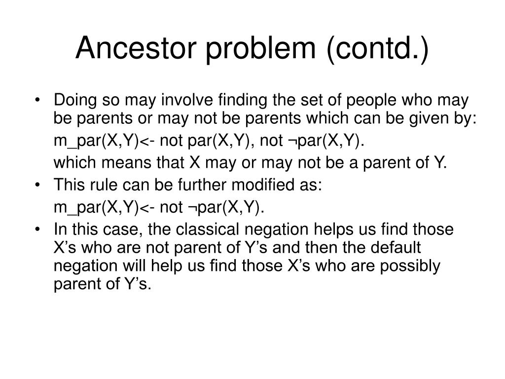Doing so may involve finding the set of people who may be parents or may not be parents which can be given by: