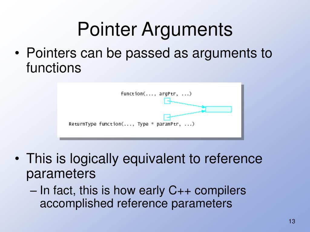 Pointer Arguments