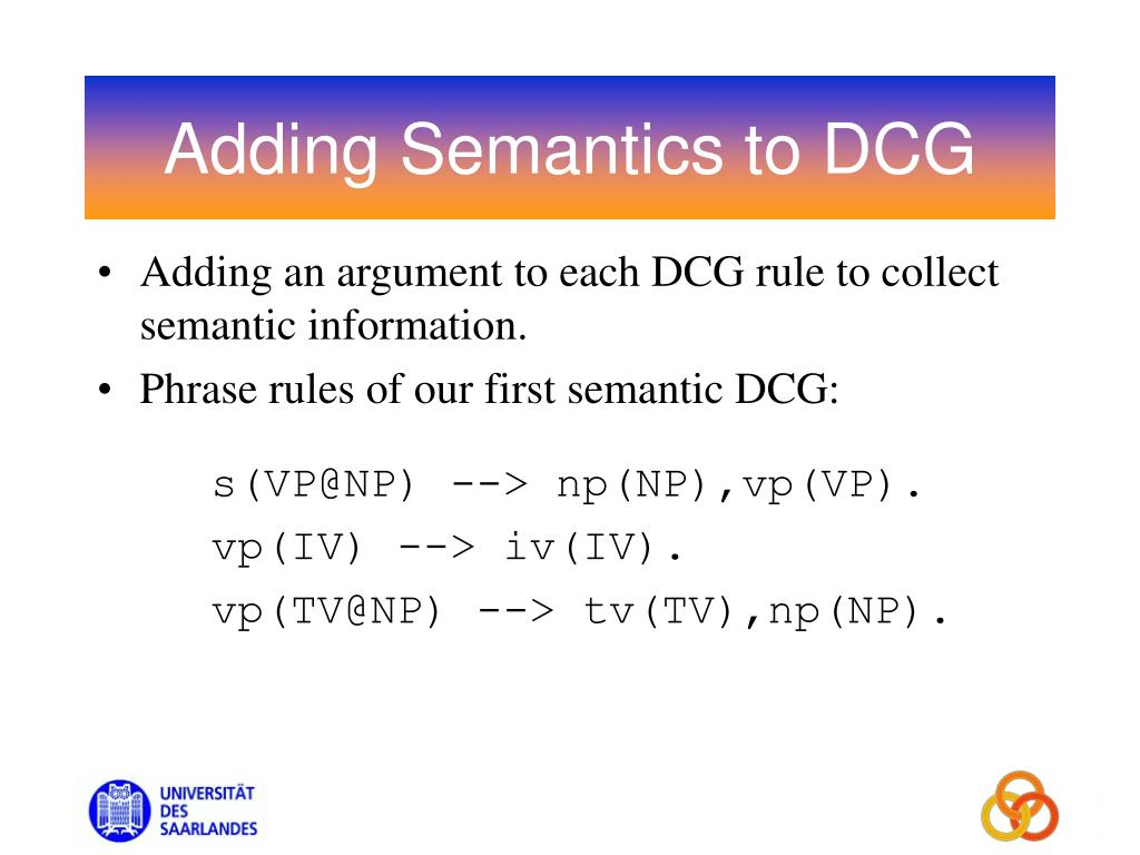 Adding Semantics to DCG