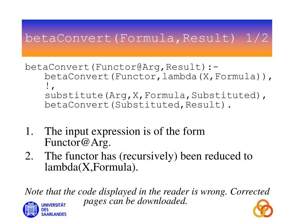 betaConvert(Formula,Result) 1/2