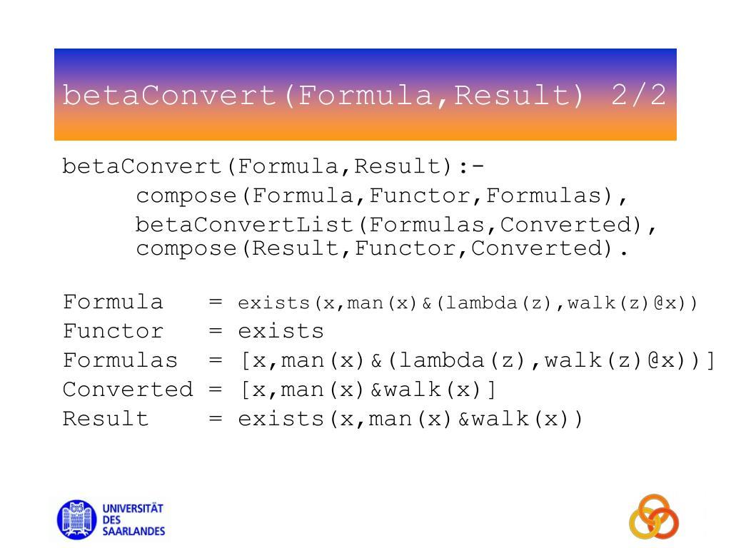 betaConvert(Formula,Result) 2/2