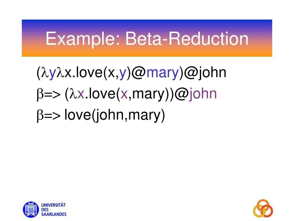 Example: Beta-Reduction