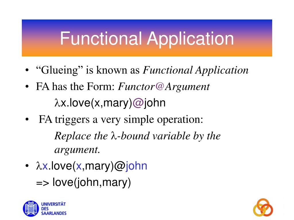 Functional Application