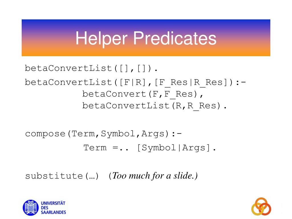 Helper Predicates