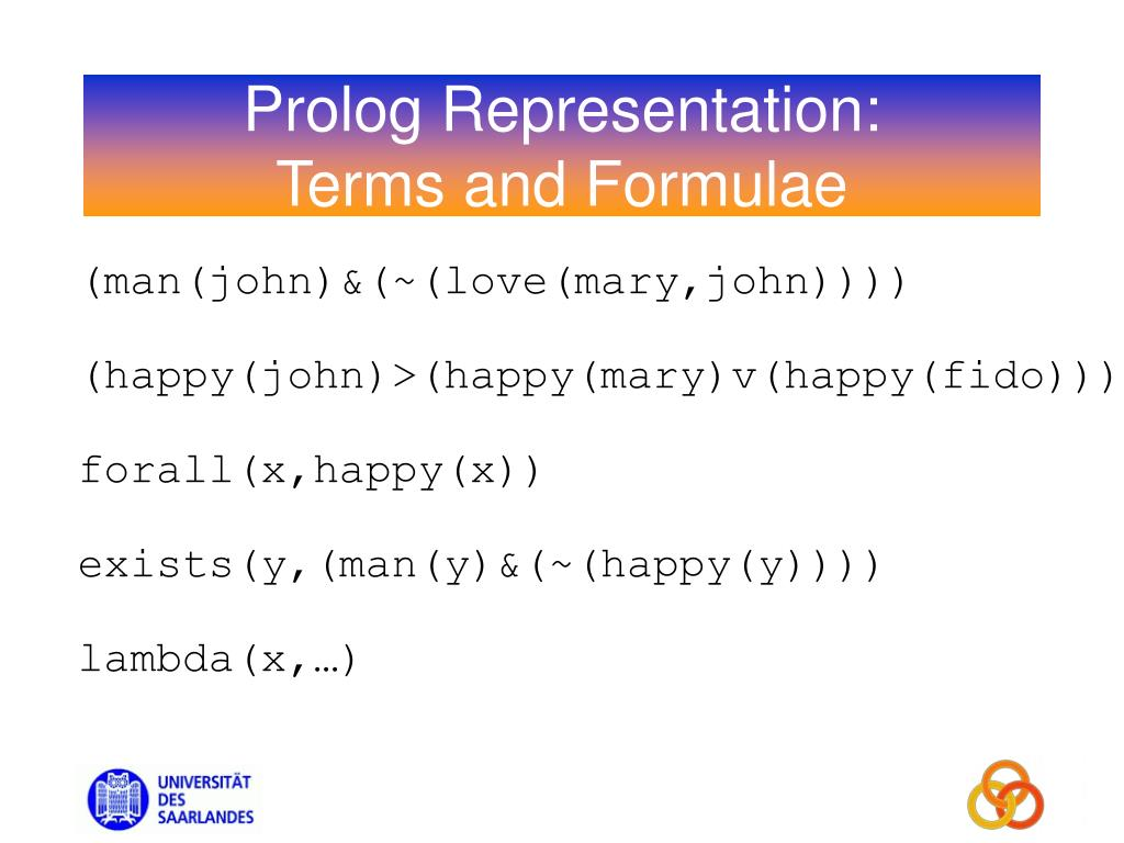 Prolog Representation: