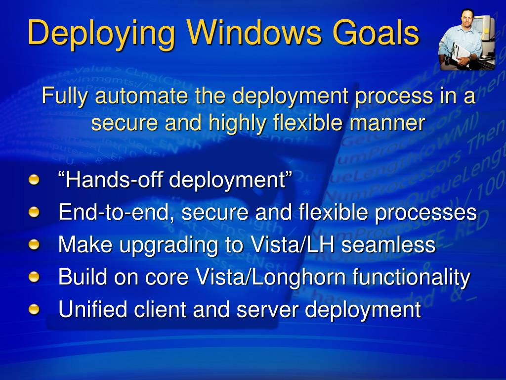 Deploying Windows Goals