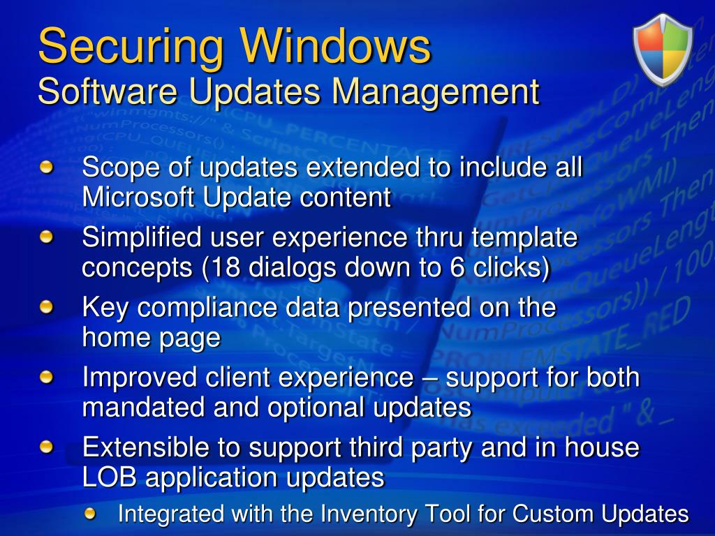 Securing Windows