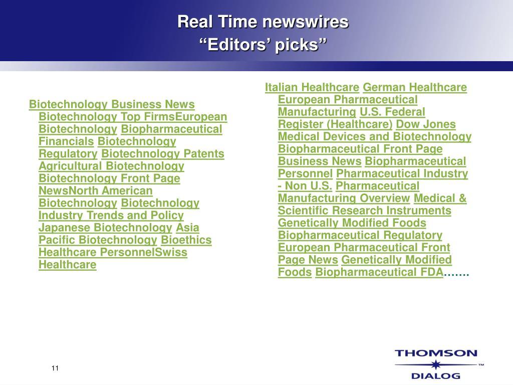 Biotechnology Business News