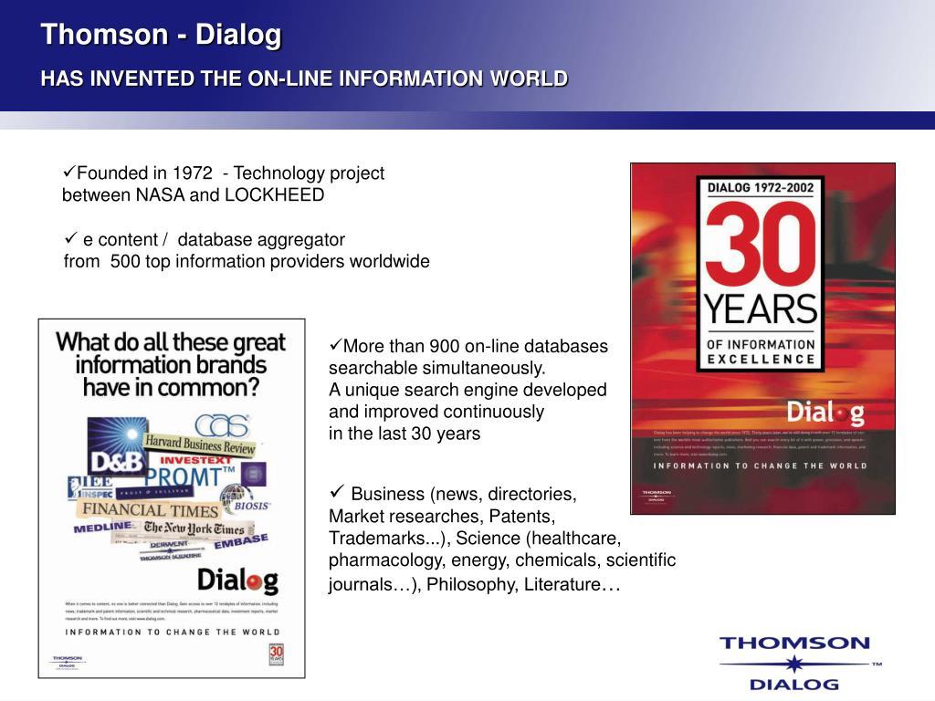 Thomson - Dialog