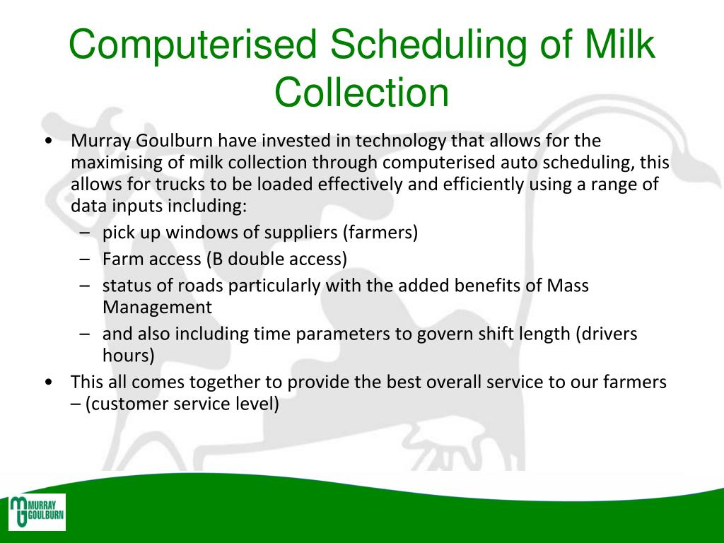 Computerised Scheduling of Milk Collection
