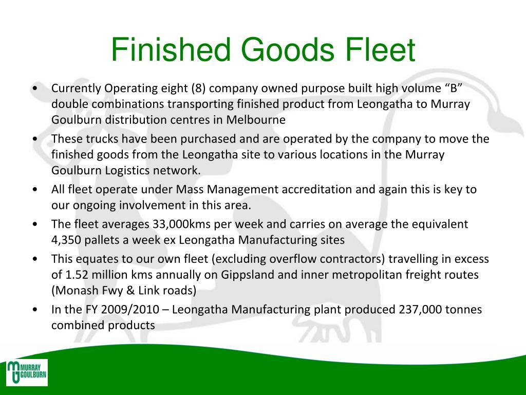 Finished Goods Fleet