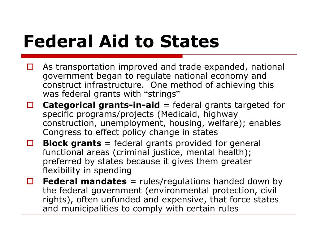 Federal Aid to States