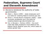 federalism supreme court and eleventh amendment