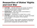 reassertion of states rights and civil war