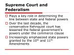 supreme court and federalism